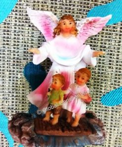 Guardian Angel Statue Figurine Watching Over 2 Kids
