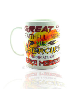 Great is His faithfullness His mercies begin afresh each morning