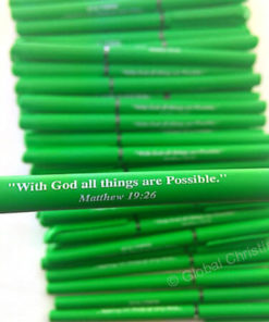 Green Pen-With God All things are Possible
