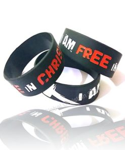 I am free in Christ - Silicone Bracelet