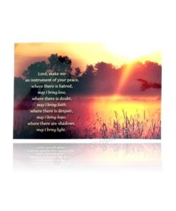 Lord Make me an Instrument of Peace - Lamination Poster