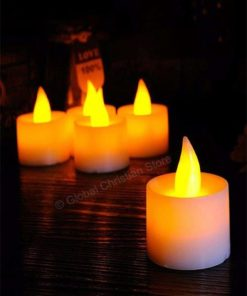 Medium Led Night Tealight Flameless Tea Candles for Wedding Birthday Party Christmas Halloween Decoration