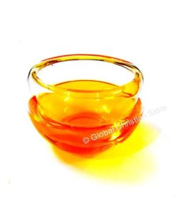 Candle Color Bowl with Liquid - Yellow Color