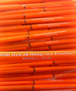 Orange Pen-With God All things are Possible