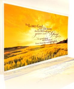 For the LORD God is a sun and shield: the LORD will give grace and glory: no good thing will he withhold from them that walk uprightly.- Lamination Poster