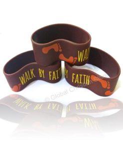 Walk by Faith - Silicone Bracelet
